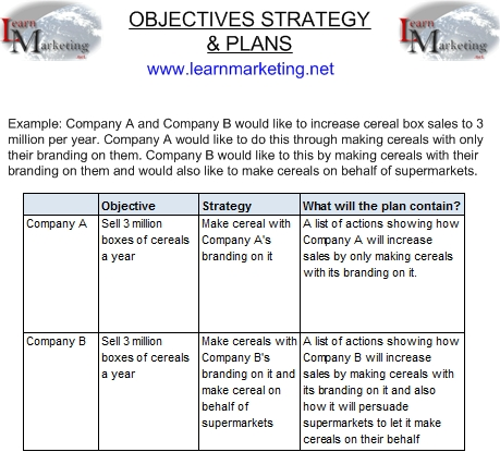 strategic goals and objectives examples